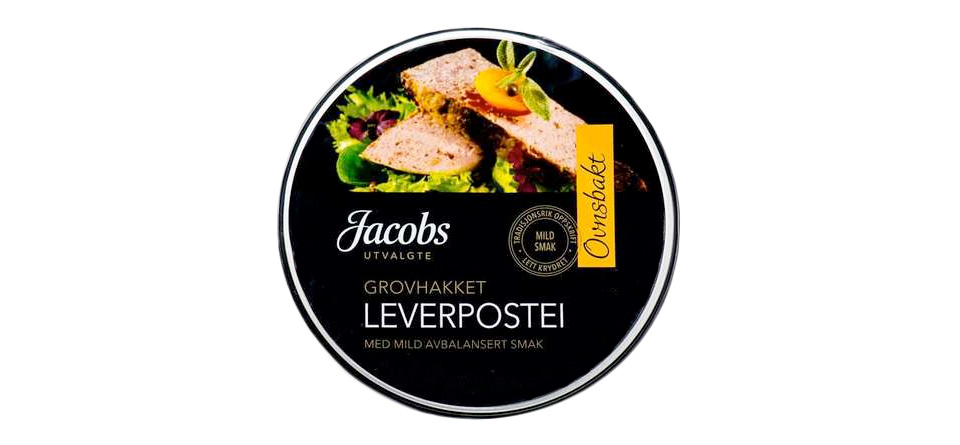 Jacobs Grovhakket leverpostei